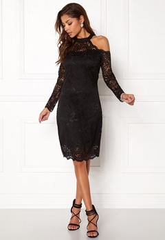 ONLY Going Out L/S Lace Dress Black Bubbleroom.fi