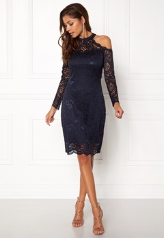 ONLY Going Out L/S Lace Dress Night Sky Bubbleroom.fi