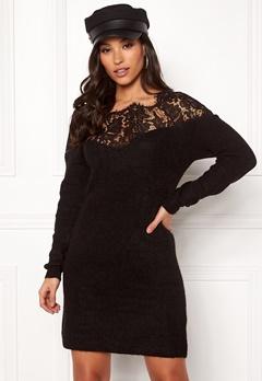 ONLY Hanna Ally L/S Lace Dress Black Bubbleroom.se