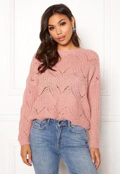 ONLY Havana L/S Pullover Knit Misty Rose Bubbleroom.se