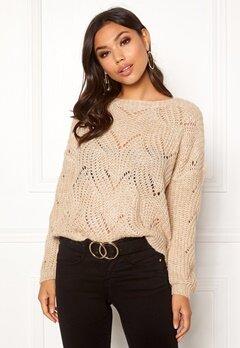 ONLY Havana L/S Pullover Knit Pumice Stone Bubbleroom.se