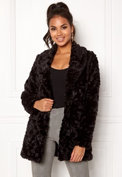 ONLY Holly Fur Coat Black Bubbleroom.eu