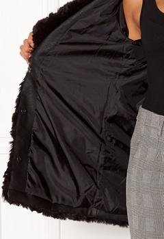ONLY Holly Fur Coat Black Bubbleroom.se