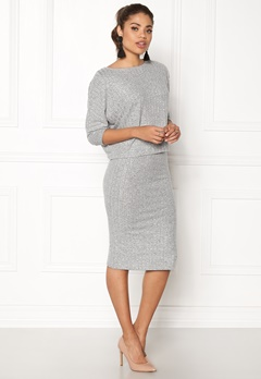 ONLY Ida Rib Skirt Light Grey Melange Bubbleroom.se