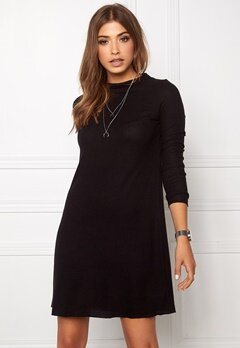 ONLY Idaho L/S Dress Black Bubbleroom.no