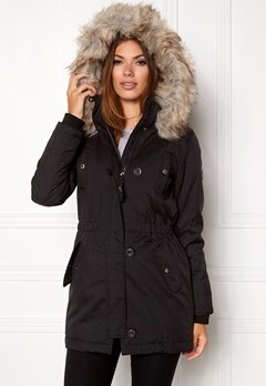 ONLY Iris parka black Bubbleroom.se