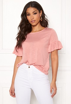 ONLY Isa S/S Frill Top Rose Tan Bubbleroom.se