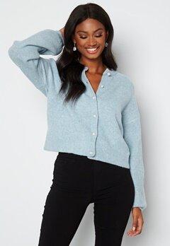 ONLY Isabella L/S Cardigan Knit Cashmare Blue bubbleroom.se