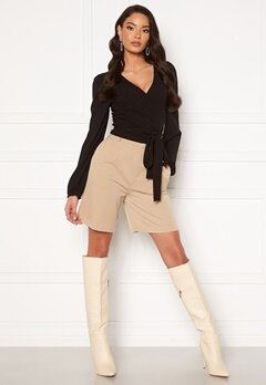 ONLY Ivy Tailored Long Shorts Silver Lining Bubbleroom.se