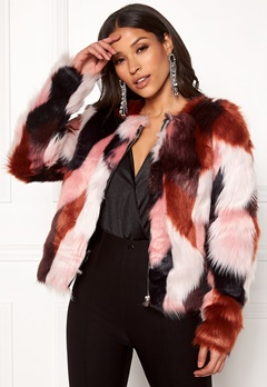 ONLY Jasmine Faux Fur Jacket Picante Bubbleroom.se