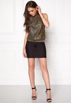 ONLY Jodie SL Highneck Top Black/silver Bubbleroom.se