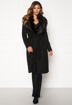 ONLY Jolie Long Wool Coat Black Bubbleroom.se