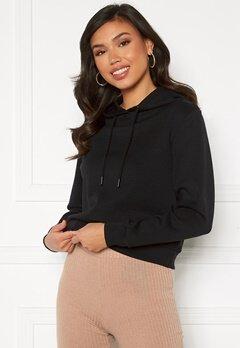 ONLY Joy L/S Hood Sweater Black Bubbleroom.se