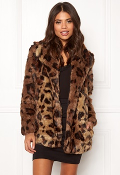 ONLY Juliane Faux Fur Leo Coat Tigers Eye Bubbleroom.se