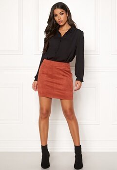 ONLY Julie Fauxsuede Skirt Ketchup Bubbleroom.se