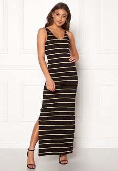 ONLY July S/L Long Dress Black/Stripes Bubbleroom.se