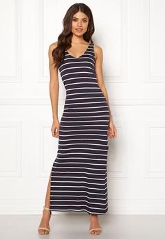 ONLY July S/L Long Dress Night Sky/Stripes Bubbleroom.se