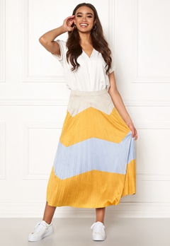 ONLY June Faux Suede Maxi Skirt Golden Yellow Bubbleroom.se