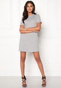 ONLY June S/S Dress Light grey melange Bubbleroom.se