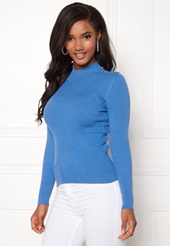 ONLY Kamille Button Pullover Marina Bubbleroom.se