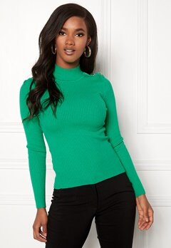 ONLY Kamille Button Pullover Simply Green Bubbleroom.se