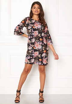 ONLY Kany Bell Dress LS Black/Floral Print Bubbleroom.se