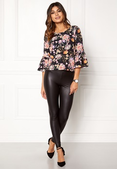 ONLY Kany Bell Top L/S Black Floral Print Bubbleroom.se