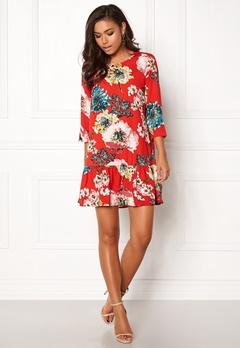 ONLY Katehrine Parki 3/4 Dress Flame Scarlet Bubbleroom.se