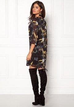 ONLY Katrine Dress L/S Black/Flower Bubbleroom.fi