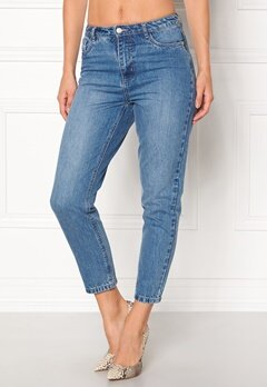 ONLY Kelly Mom Dnm Jeans Medium Blue Denim Bubbleroom.se