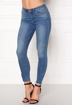 ONLY Kendell Ankle Zip Jeans Medium Blue Denim Bubbleroom.fi