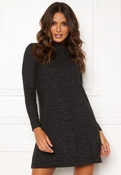 ONLY Kleo L/S Dress Knit Dark Grey Melange Bubbleroom.se