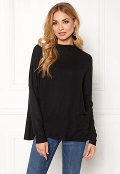 ONLY Kleo L/S Plain Pullover Black Bubbleroom.fi