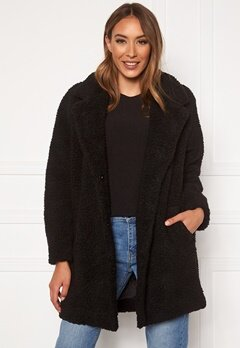 ONLY Laurelia Sherpa Coat Black Bubbleroom.se