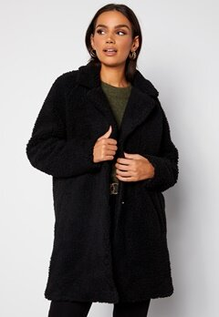 ONLY Laurelia Sherpa Coat Black Bubbleroom.se