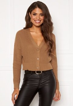 ONLY Laysla Life L/S Cardigan Toasted Coconut Bubbleroom.se