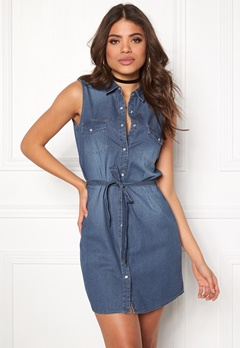 ONLY Legend Shirt Dress Medium Blue Denim Bubbleroom.fi