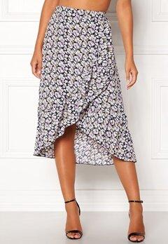ONLY Lilac Long Frill Skirt Night Sky Bubbleroom.se