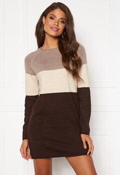 ONLY Lillo L/S Dress Woodsmoke/Oatmeal/C Bubbleroom.se