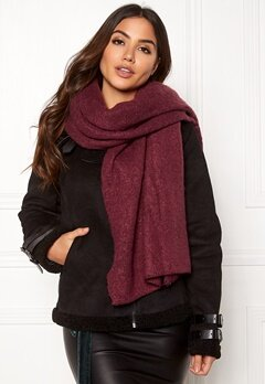 ONLY Lima Knit Long Scarf Chocolate Truffle Bubbleroom.se