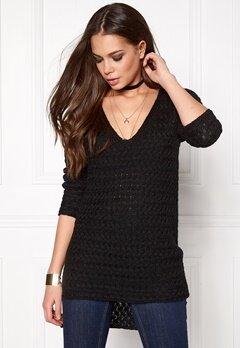 ONLY Lima L/S V-Neck Pullover Black Bubbleroom.se