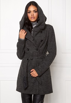 ONLY Lisa Long Wool Coat Dark Grey Melange Bubbleroom.se