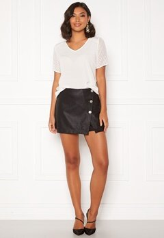 ONLY Liva Faux Leather Shorts Black Bubbleroom.se