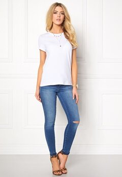 ONLY Live Love Trendy O-Neck White Bubbleroom.se