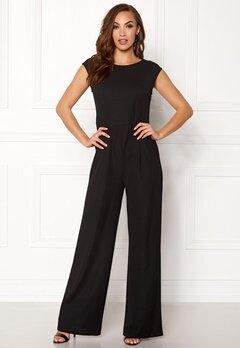 ONLY Lona S/L Wide Jumpsuit Black Bubbleroom.dk
