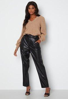 ONLY Lucy Faux Leather Pant Black bubbleroom.se
