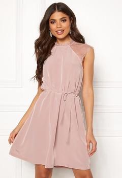 ONLY Lunu S/L Dress Adobe Rose Bubbleroom.se