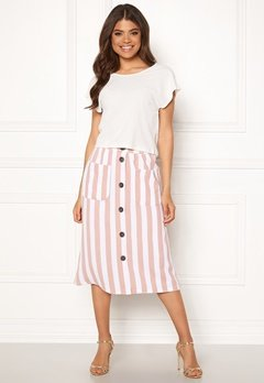 ONLY Madeline Piper Midi Skirt Rose Smoke/Stripes Bubbleroom.se