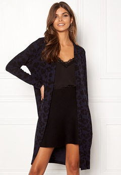 ONLY Mala L/S Leo Cardigan Night Sky/Black Leo Bubbleroom.se