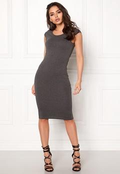 ONLY Mallika Capsleeve Dress Dark Grey Melange Bubbleroom.se